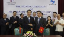 The signing ceremony of memorandum understanding Vietnam & China